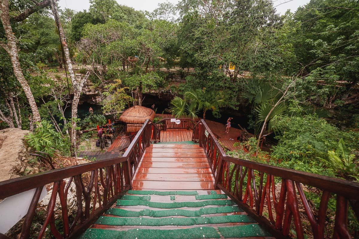 Gran Cenote Tulum big staircase
