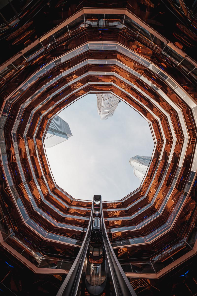 NYC The Vessel with Ultra Wide Angle lens