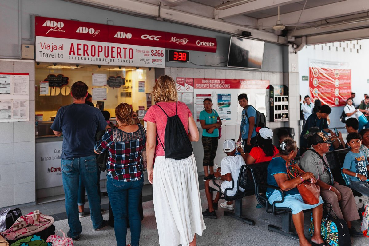 ADO bus station Tulum