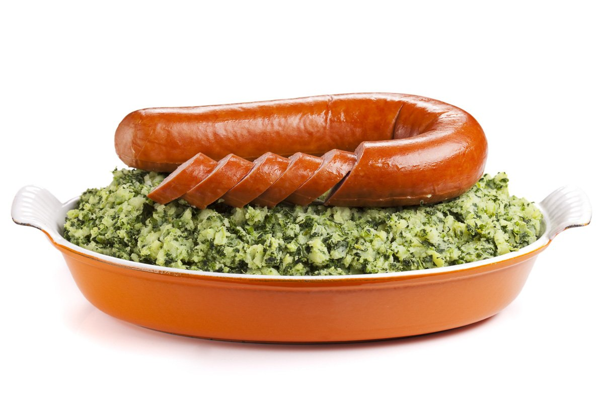 Boerenkool, Dutch mashed potato with kale, Dutch food, mash pot