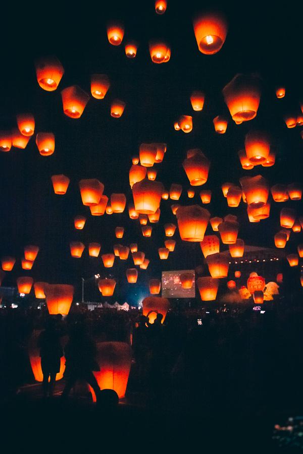 Lantern festival Pingxi Shifen Taiwan