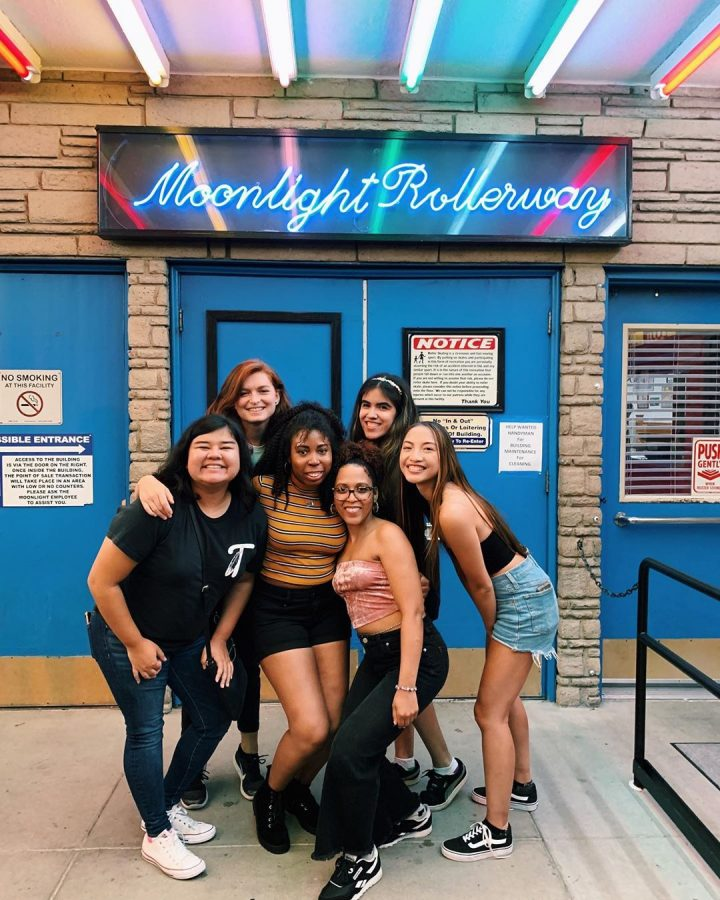 Lesbian Rainbow Skate Night at Moonlight Rollerway Los Angeles