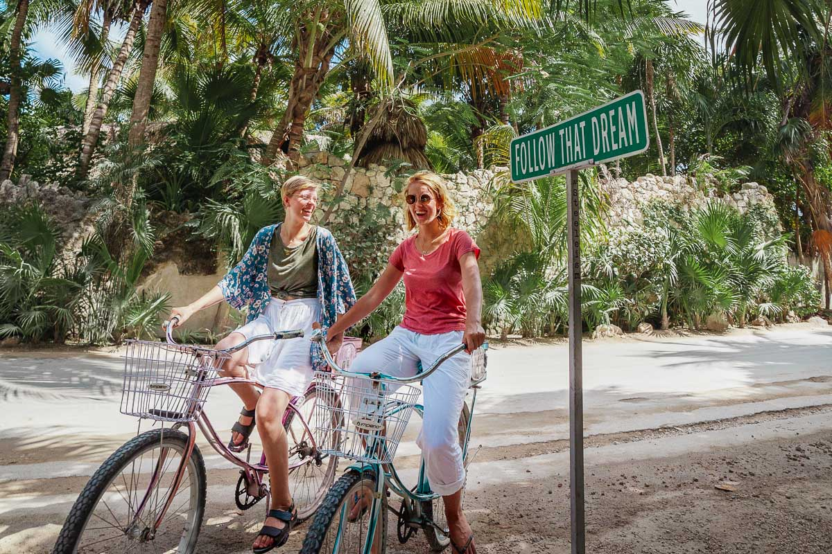 Tulum by bicycle