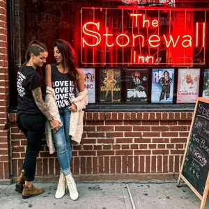 The Stonewall Inn lesbian bar in NYC