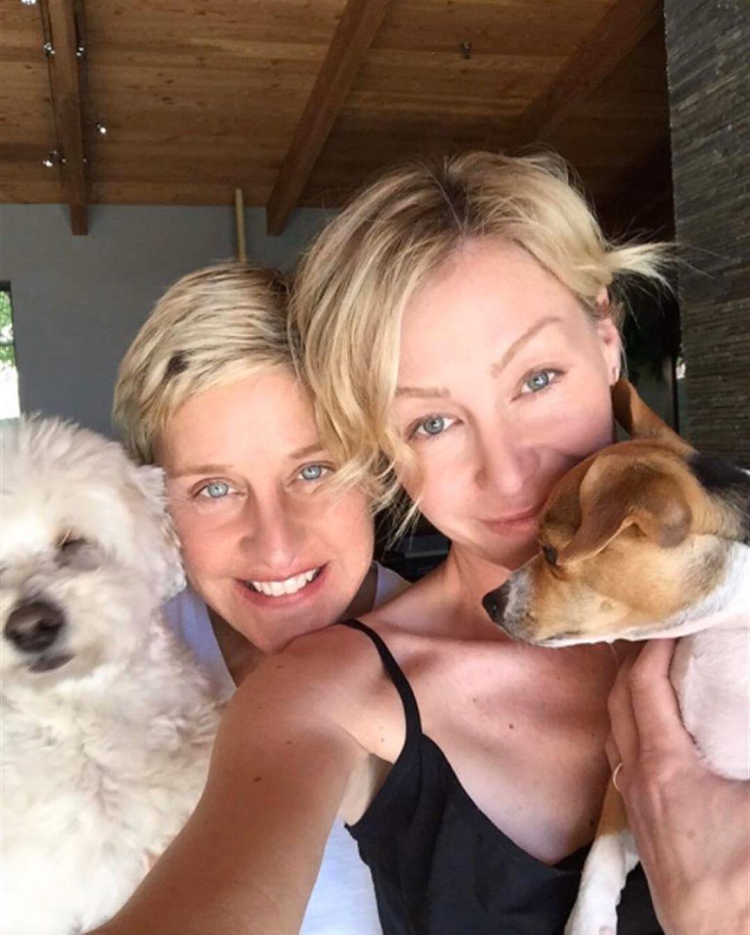 Ellen DeGeneres Portia de Rossi famous lesbians