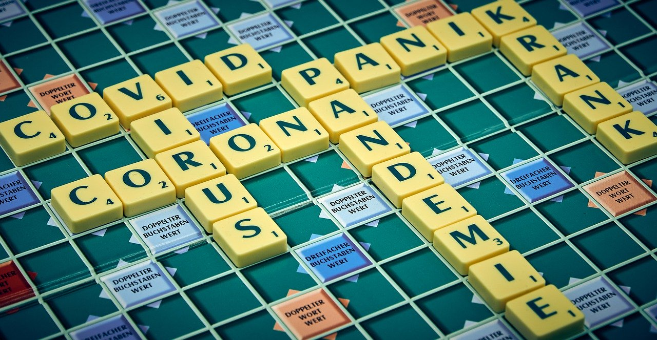 corona virus scrabble board game
