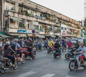 Vietnam by motorbike local traffic transportation in vietnam