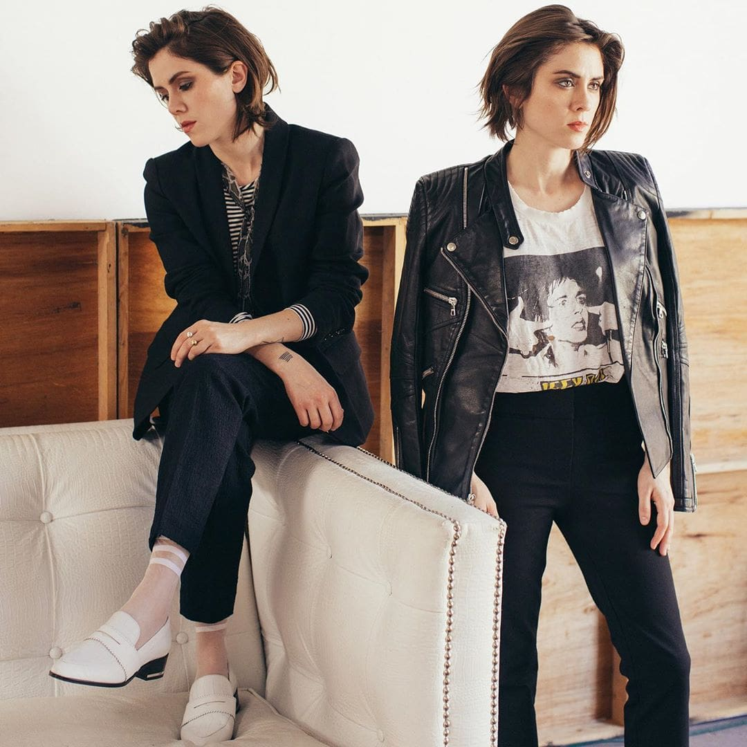 Lesbian band with lesbian artists Tegan and Sara