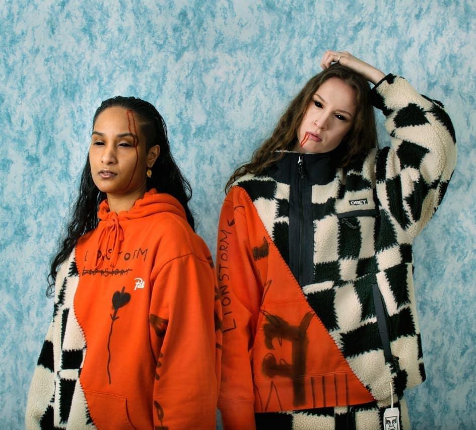 Lesbian rappers Lionstorm