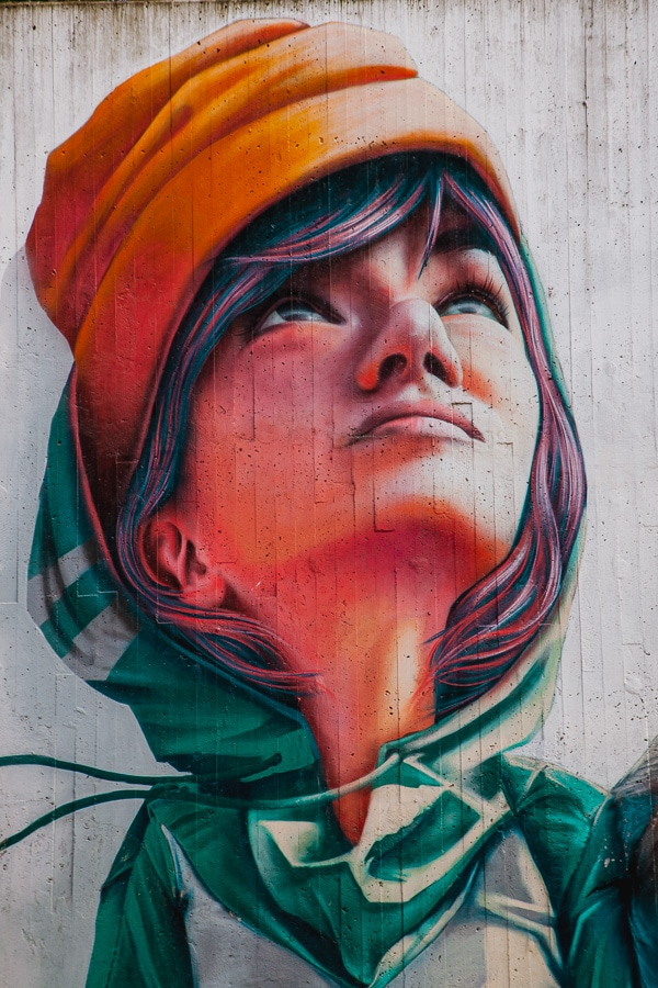 Luthens gränd, mural by YASH Linus Lundin, Södermalm, Stockholm