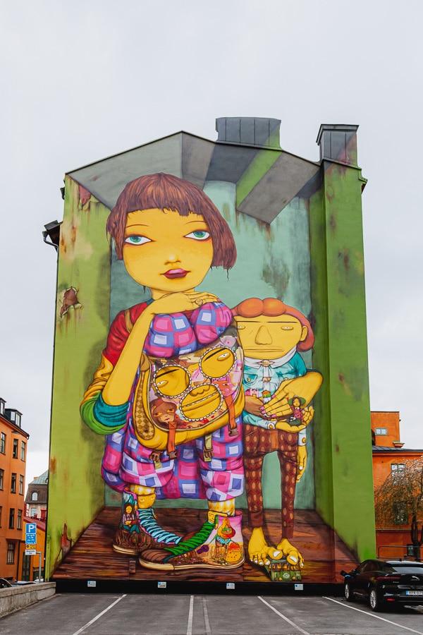 Os Gemeos Mural, Fiskargatan, Stockholm