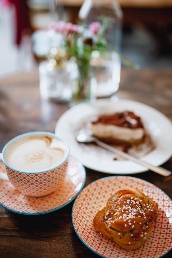 Swedish fika coffee and kanelbullar cinnamon rolls