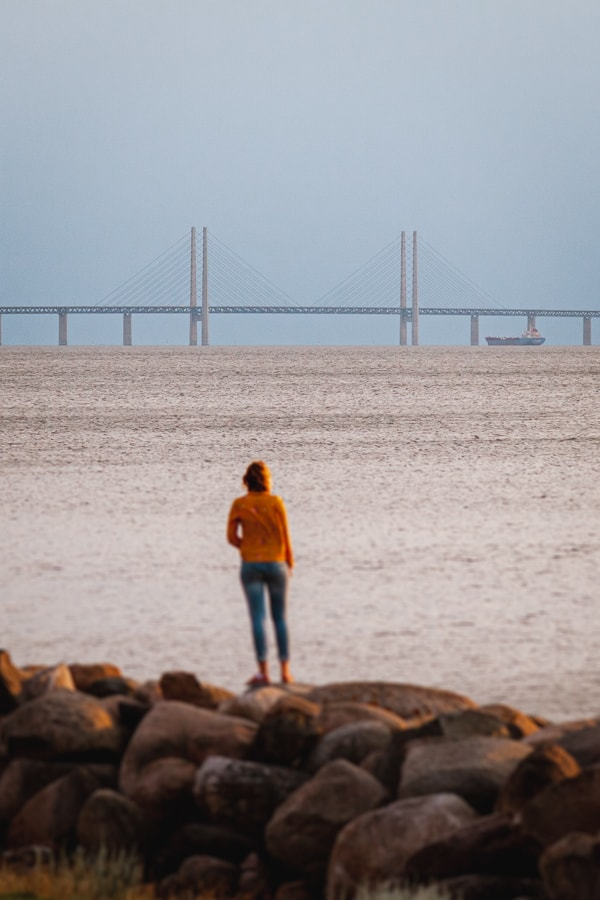 Øresund bridge from Västra hamnen, Malmo