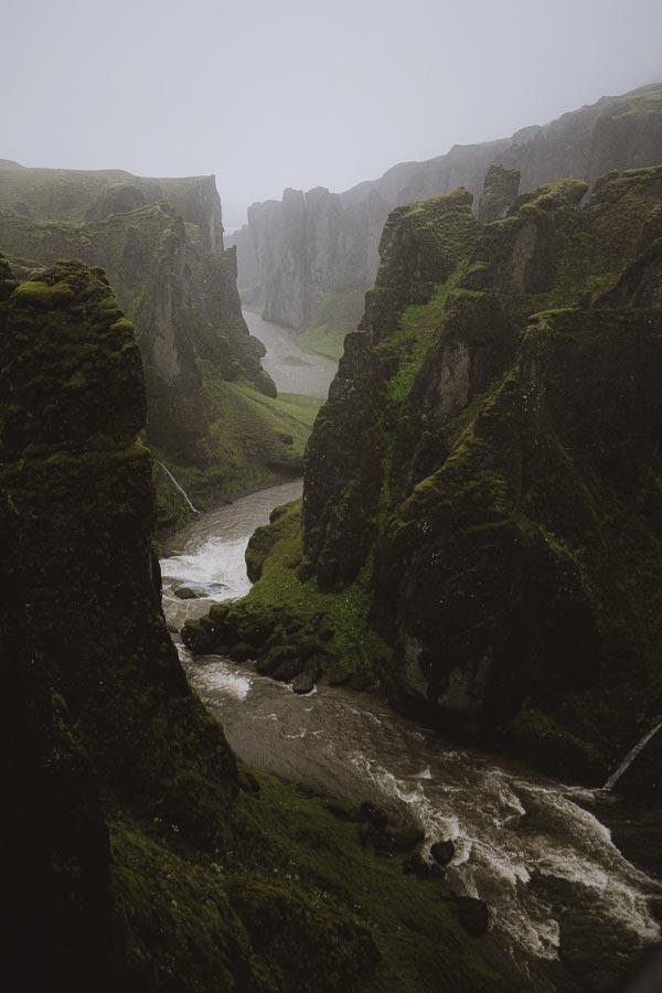 Fjadrargljufur Canyon Iceland