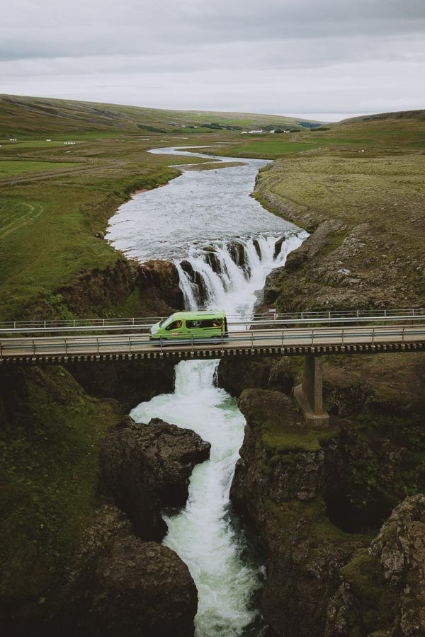 Kolugljúfur Canyon Happy Campers Iceland campervan