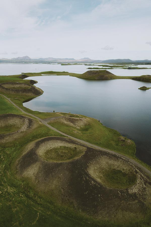 Pseudocraters Lake Myvatn Iceland