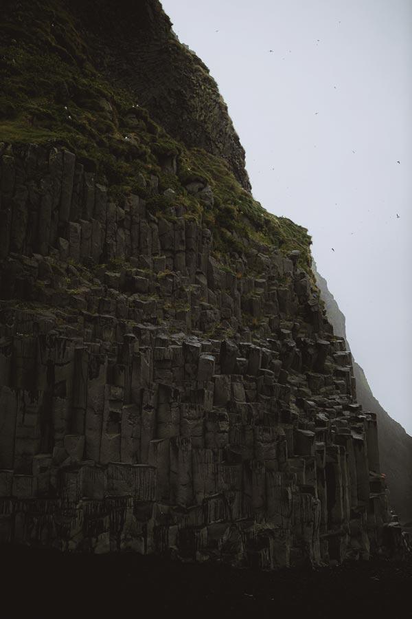 Reynisfjara beach basalt columns
