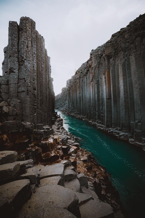 Studlagil Basalt Canyon Iceland