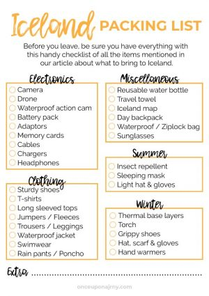 Iceland Packing Checklist