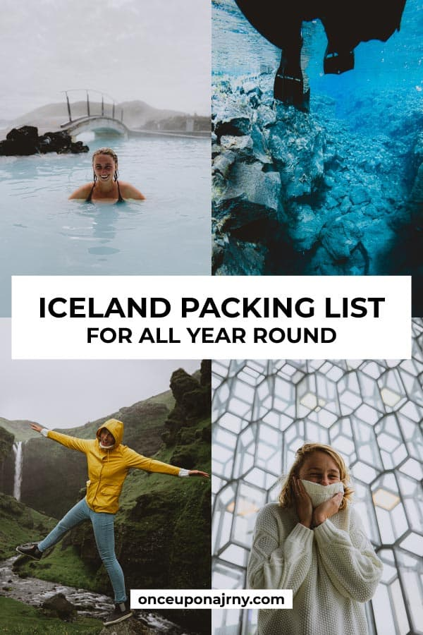 Iceland packing list for all year