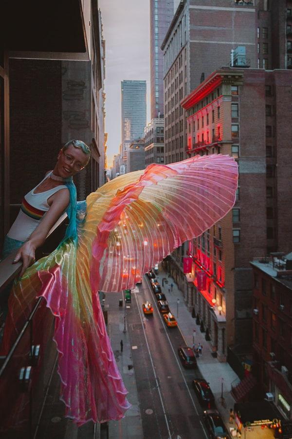 Maartje Hensen Bi Coming Out Story NYC Pride Rainbow Wings