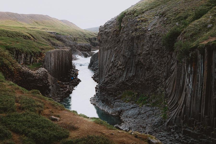 Studlagil Basalt Column Canyon Iceland