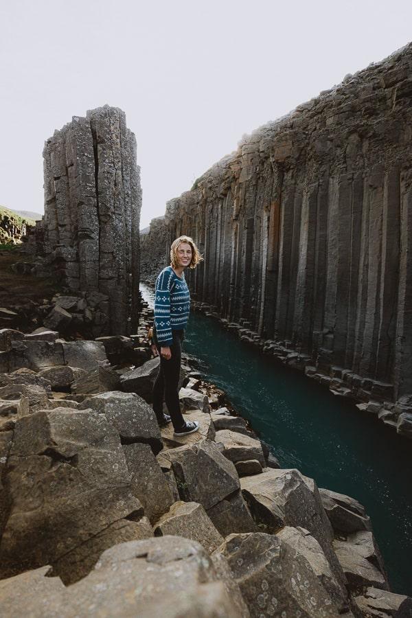 Studlagil Canyon Basalt Column Canyon Iceland