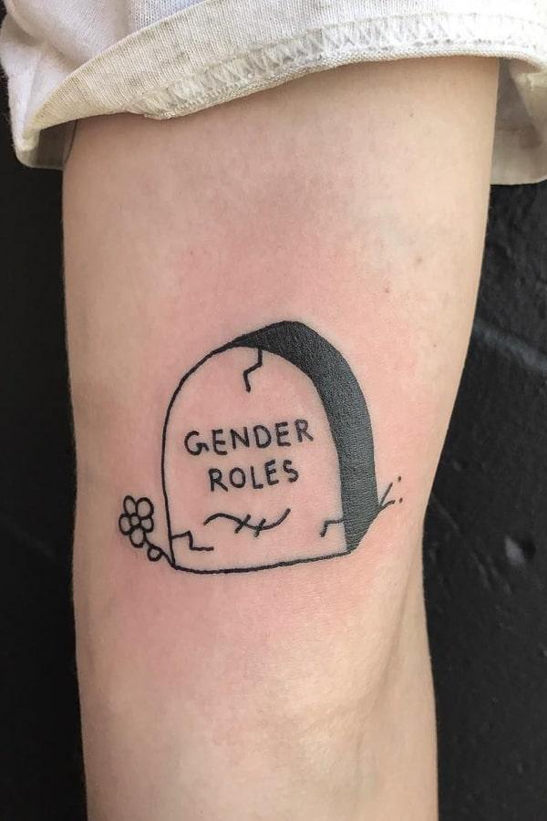 Grave gender roles tattoo by @jess_koala_tattoo