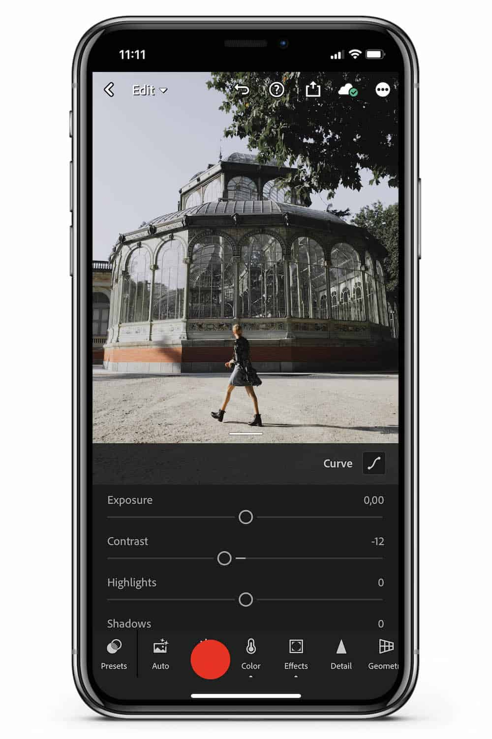 How to edit Lightroom Mobile tutorial light