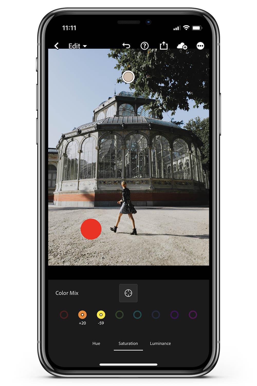 How to use preset Lightroom change color target tool