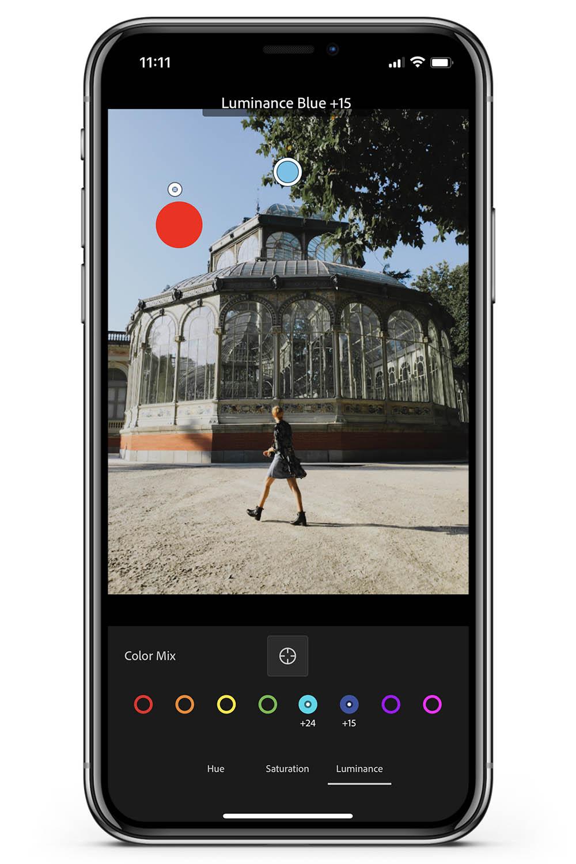 How to use preset change color target adjustment