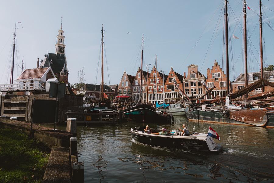 Historische haven Hoorn bootje varen