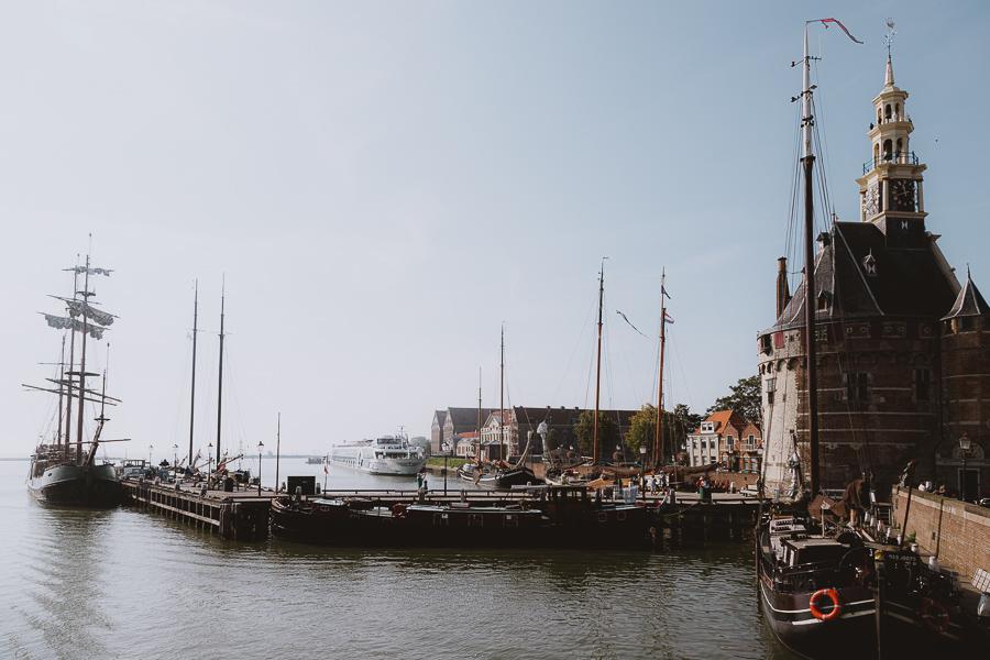 Historische haven Hoorn schepen