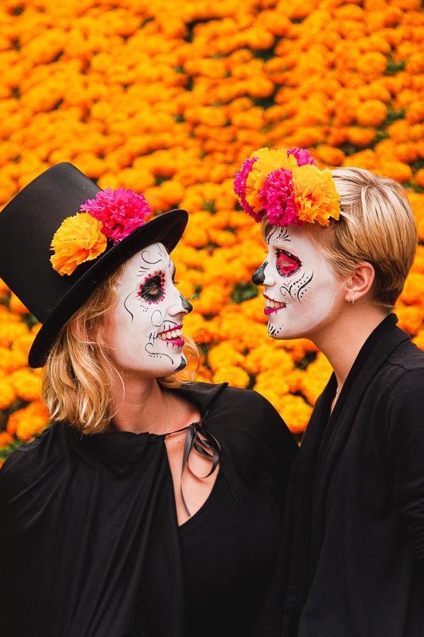 Lesbian dia de muertos Mexico