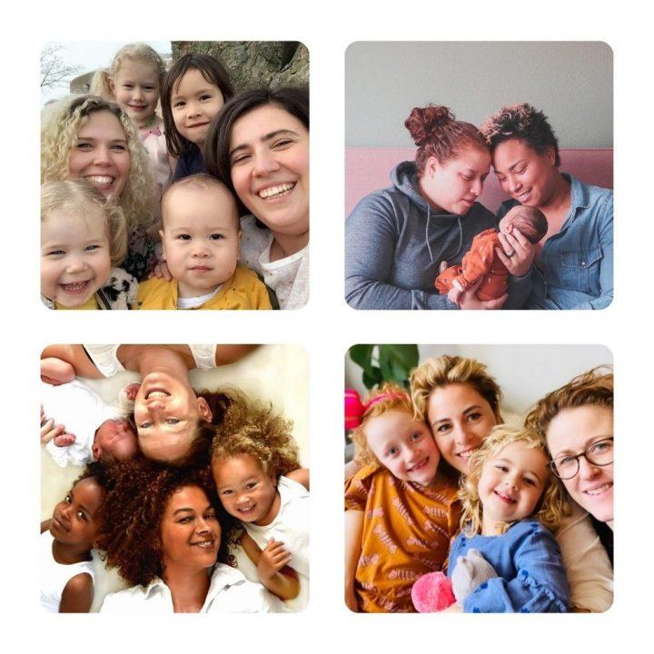 Lesbische moeders:  16 verhalen van lesbische stellen met kinderen