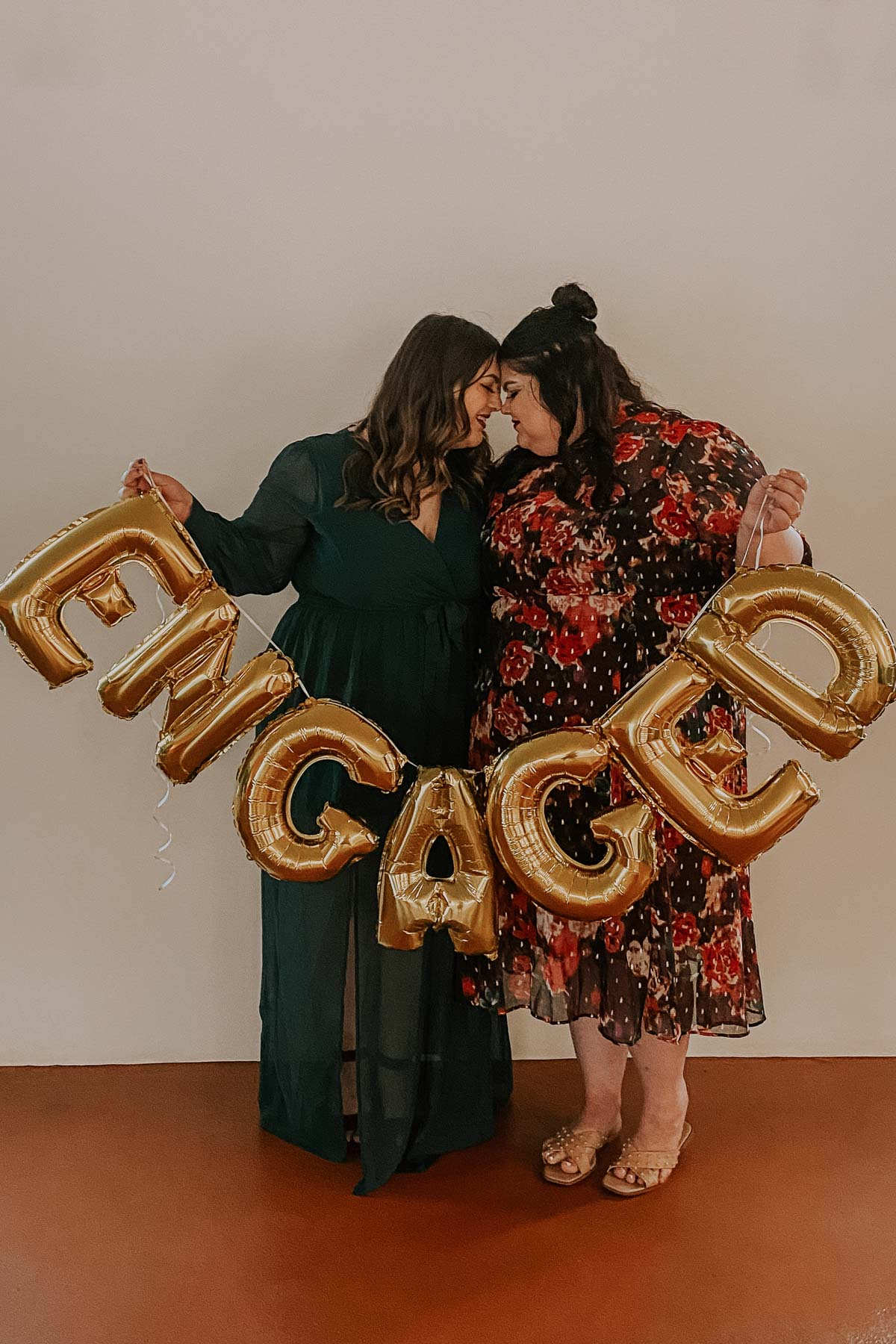 Plus size queer couple Ashley and Malori lesbian song proposal