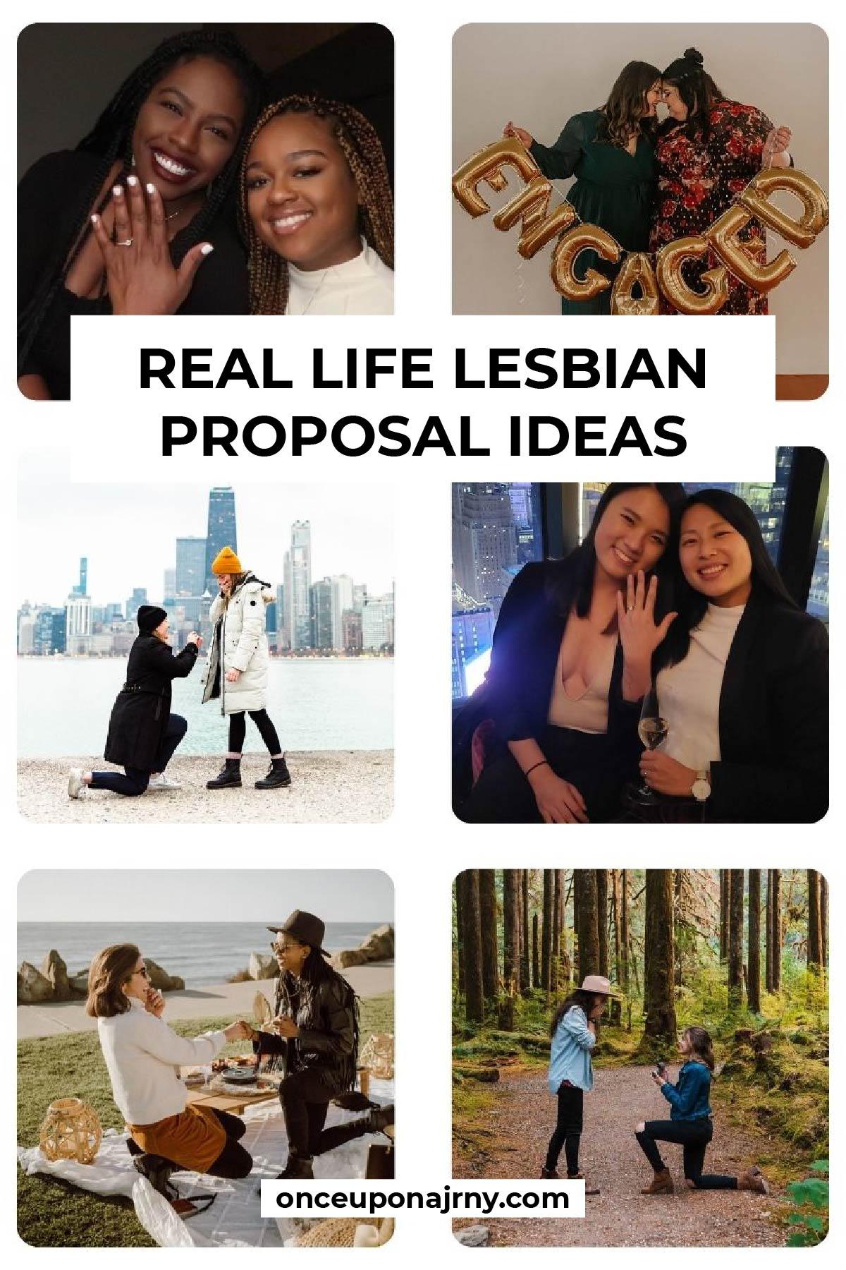 Real life lesbian proposal ideas