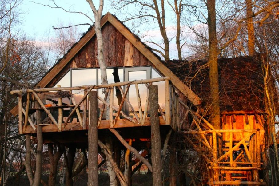 bijzonder overnachten in een boomhut natuurhuisje