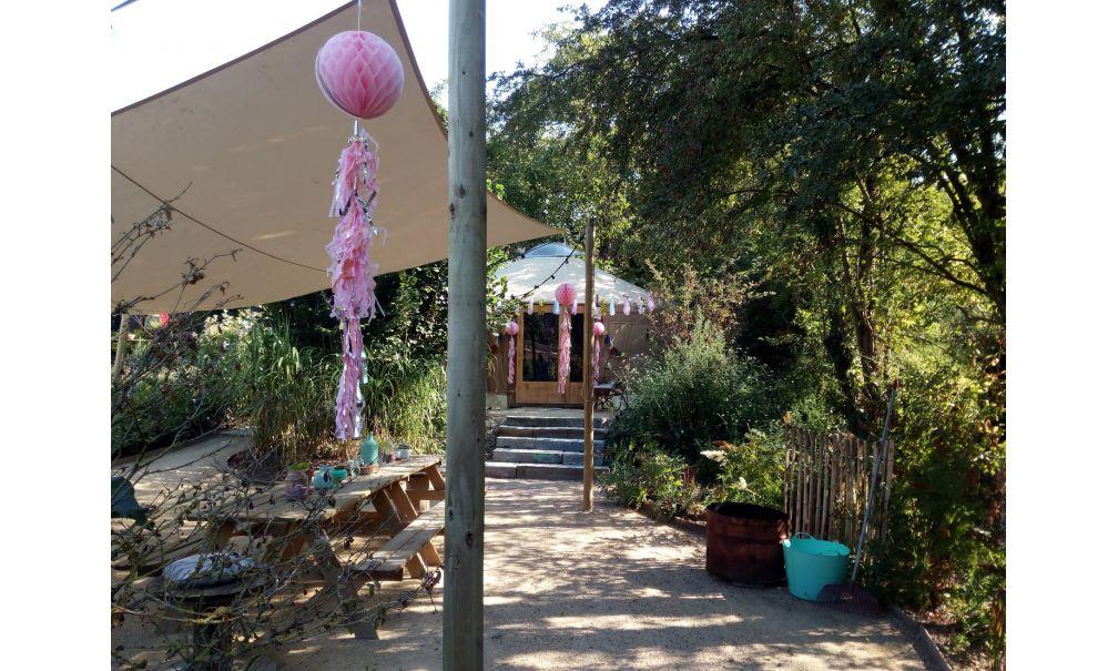overnachten in een yurt natuurhuisje