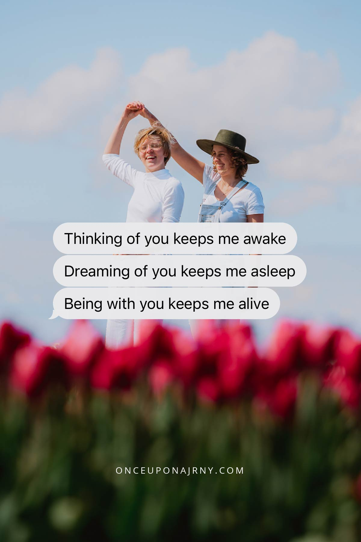 Thinking of you keeps me awake. Dreaming of you keeps me asleep. Being with you keeps me alive lesbian love quotes for her