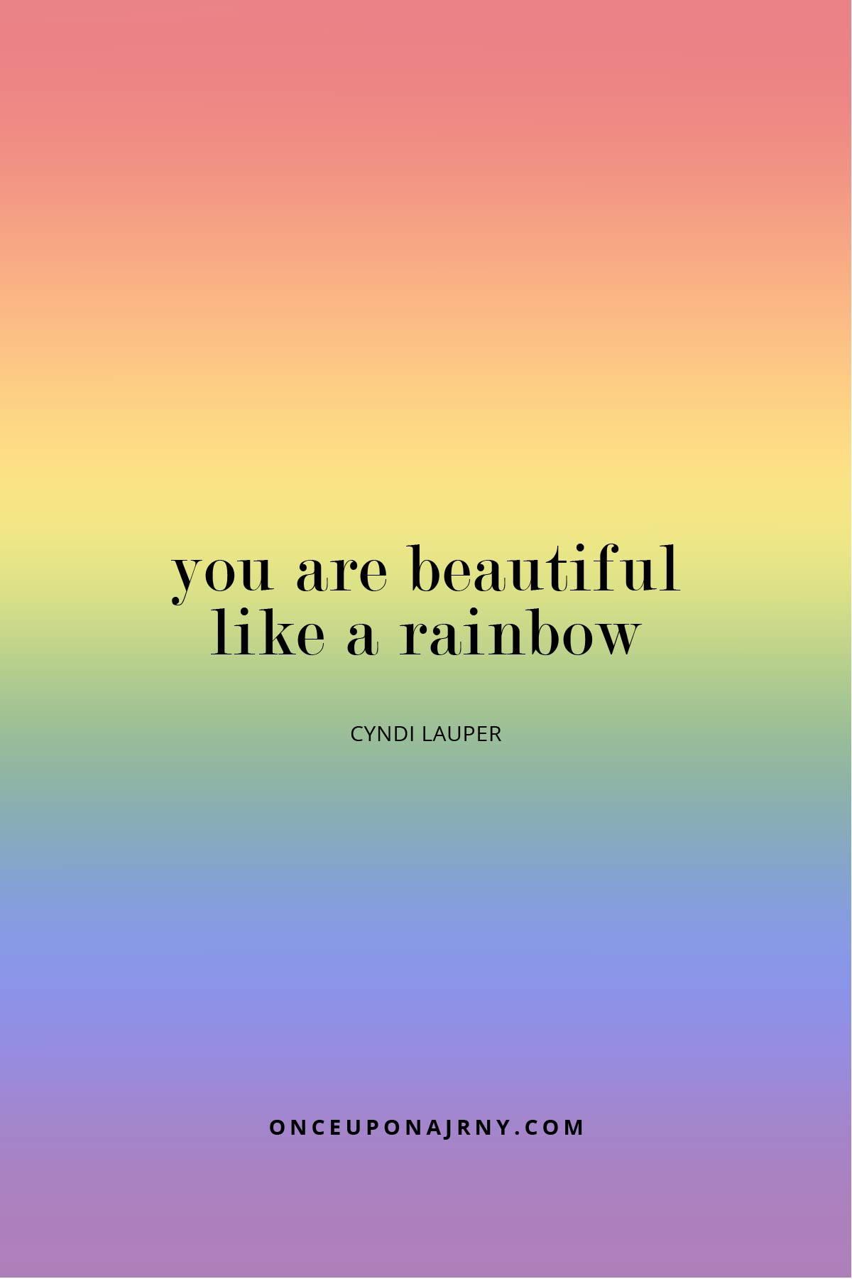 You are beautiful like a rainbow cute lesbian quotes