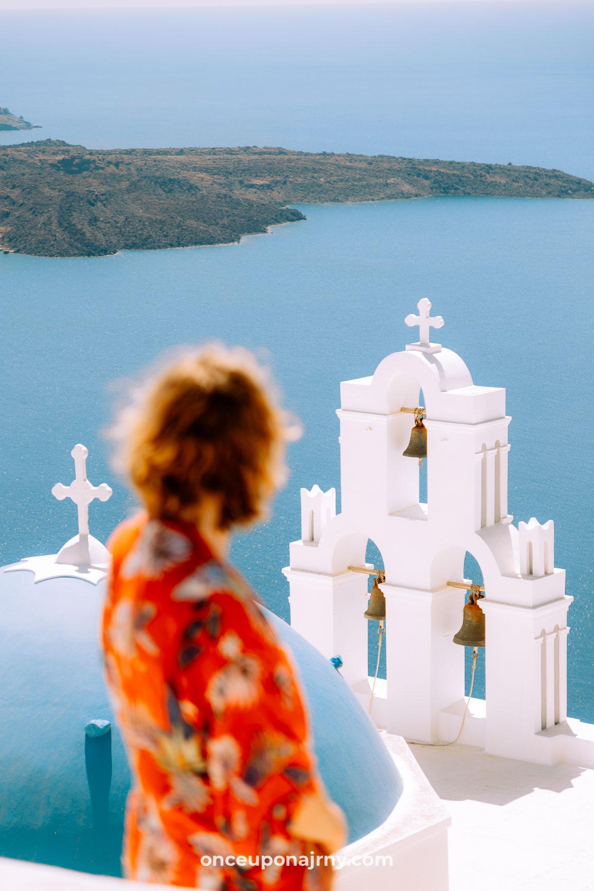 Bells of Fira Instagram spots Santorini