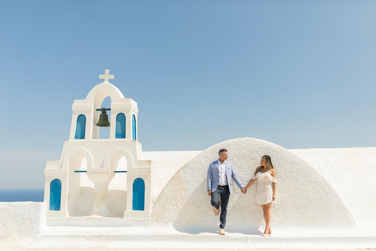 Chapel in Oia Santorini Bells by photographer Kimonas