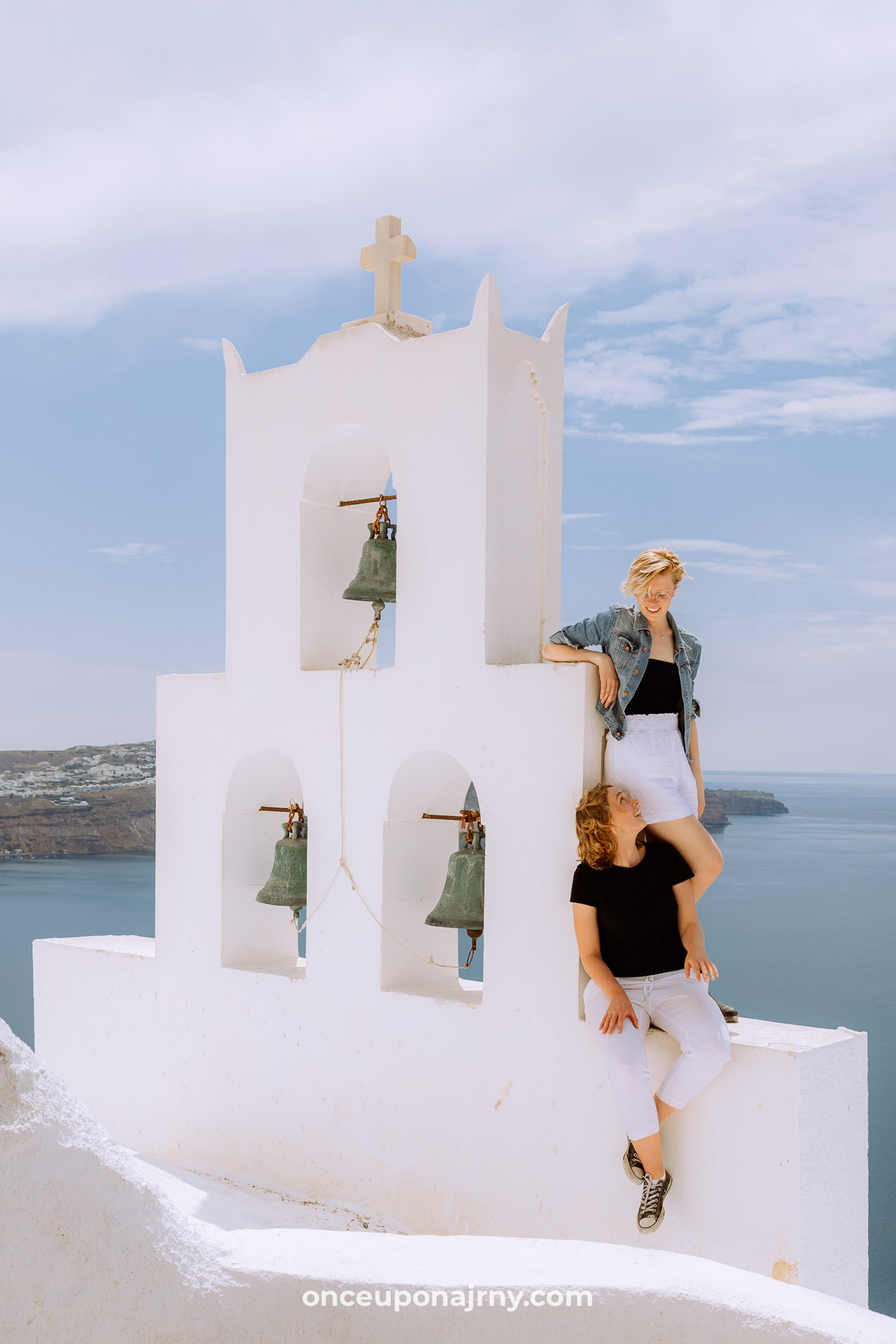 Church of Agios Nikolaos Megalochori, Santorini photo spots bell tower