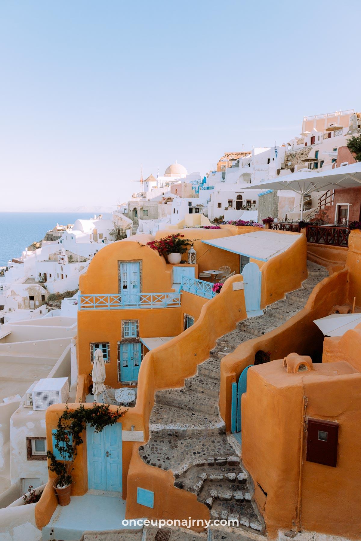 Kastro Oia Photo Spots Santorini terracotta houses