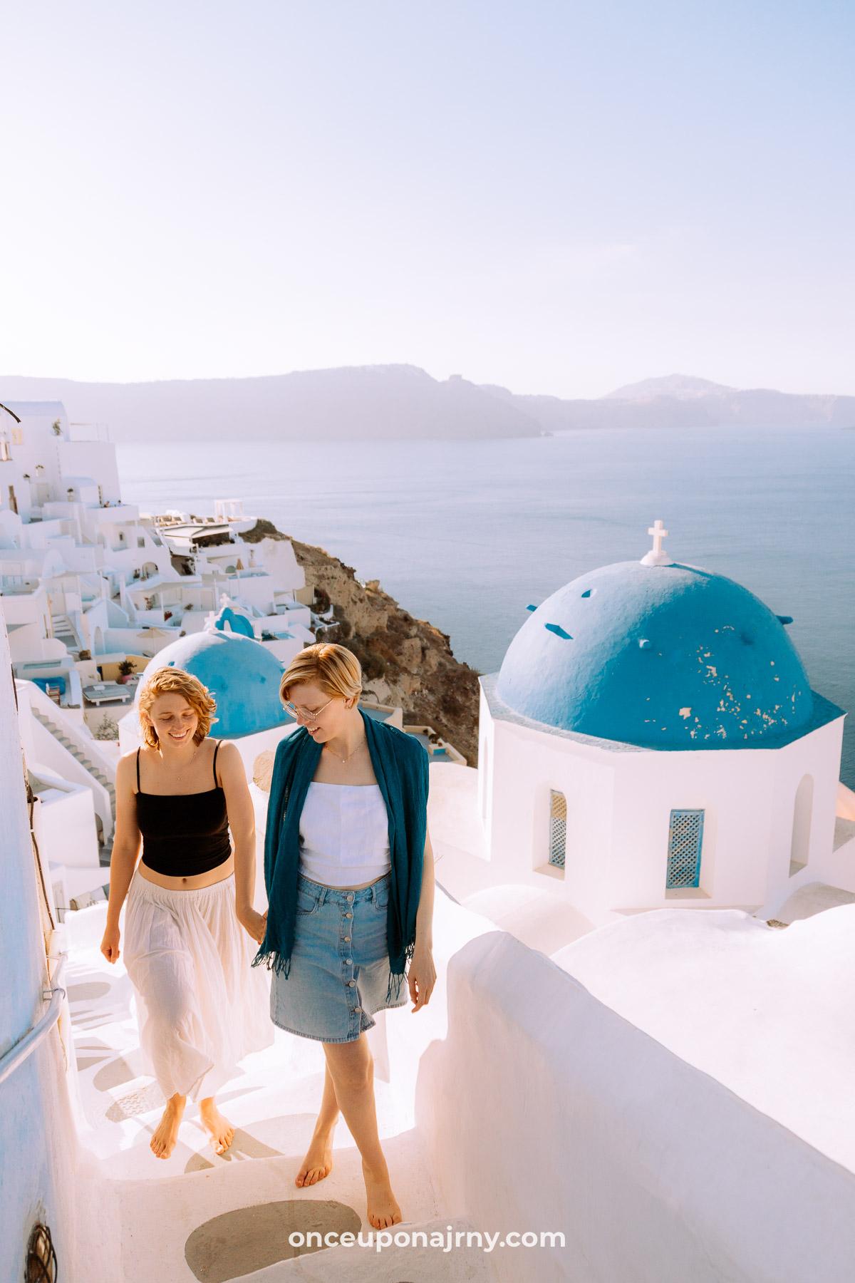 Oia Blue Domes Instagram spots Santorini
