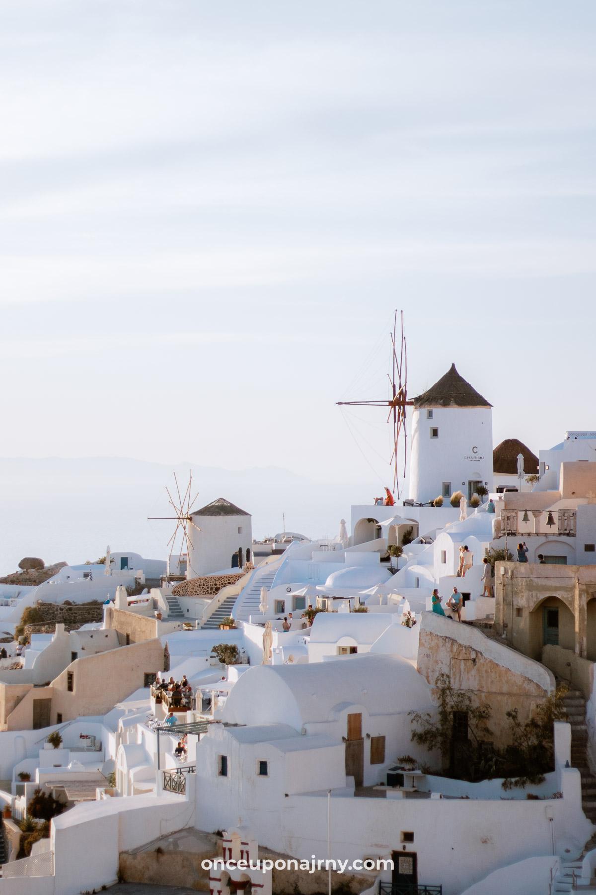 Oia Windmills Santorini photo spots