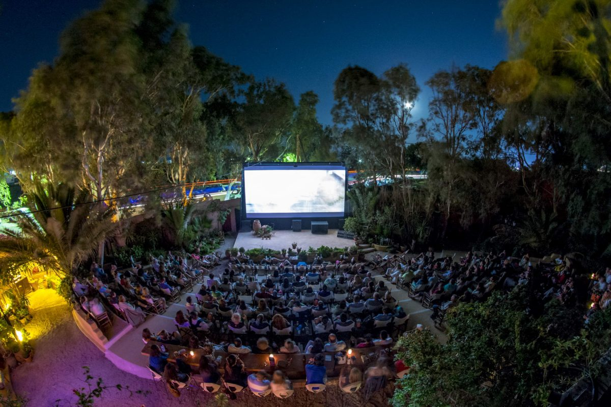 open air cinema Santorini itinerary
