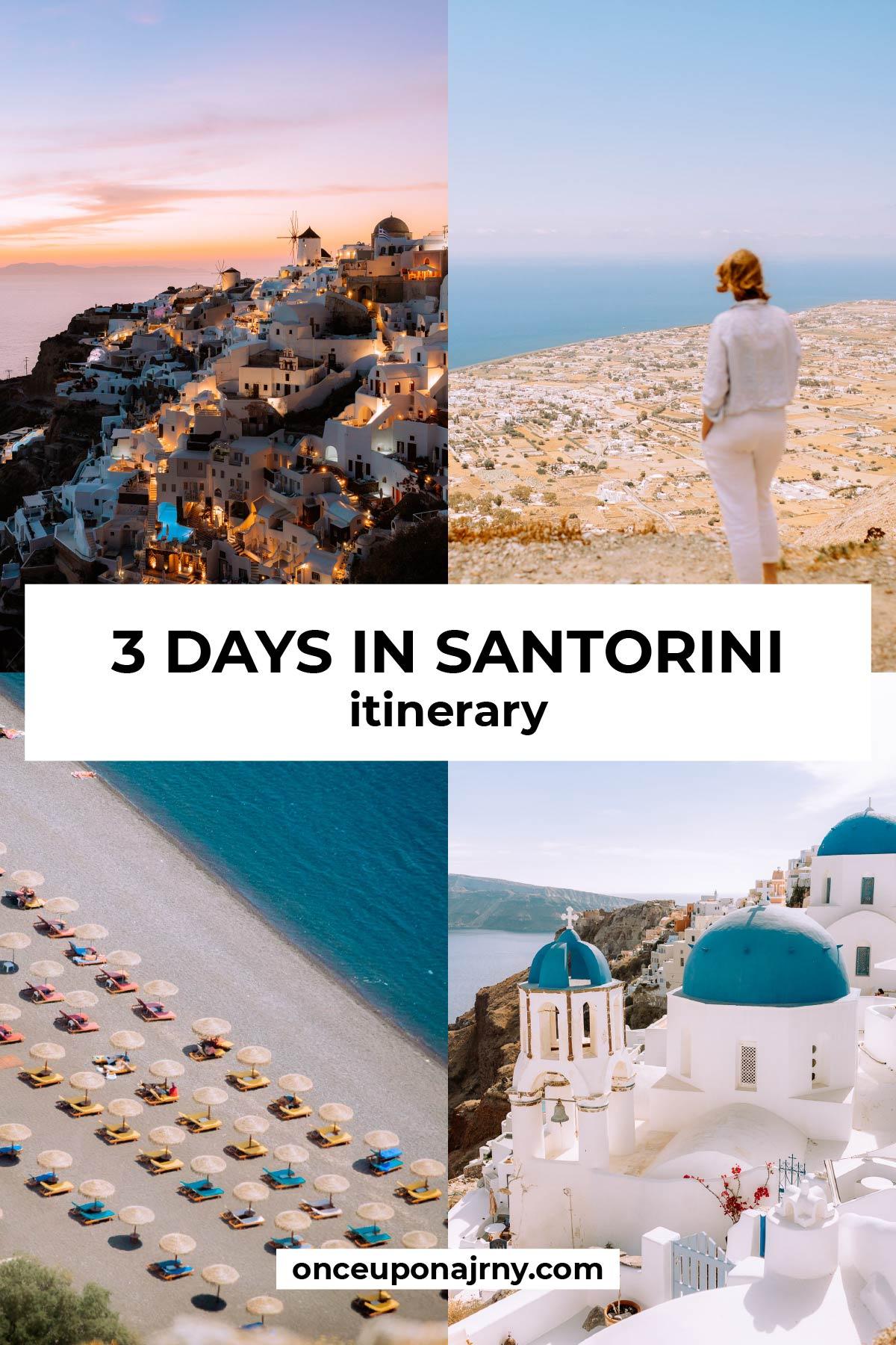 3 Days in Santorini Itinerary