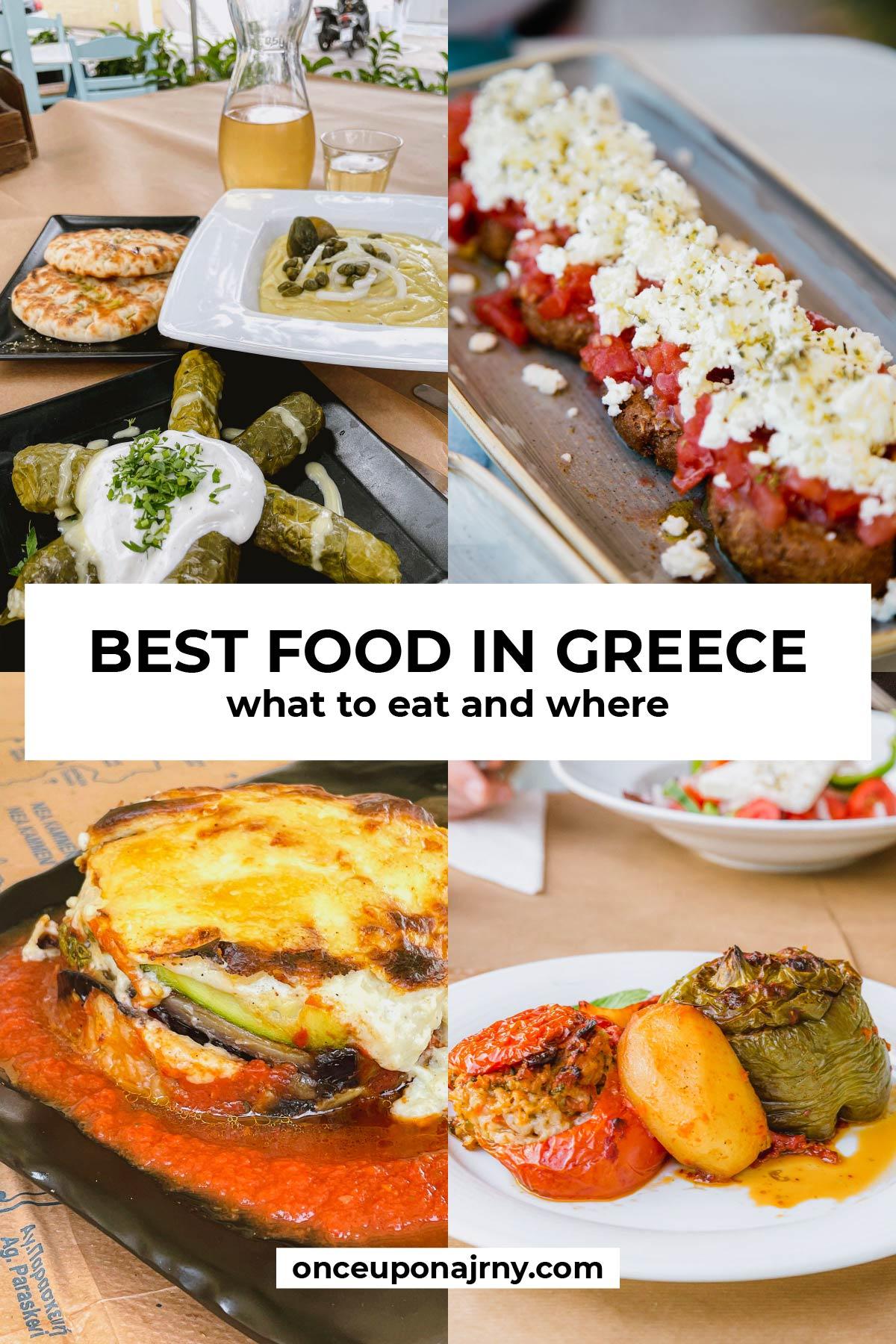 Best food in Greece